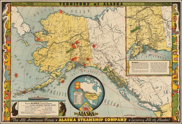 38-Alaska Map By Frank McCaffrey