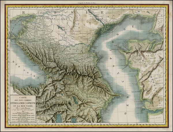95-Ukraine and Central Asia & Caucasus Map By Alexandre Emile Lapie