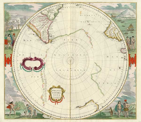 26-World, Polar Maps, Australia & Oceania, Pacific, Australia and New Zealand Map By Henricus