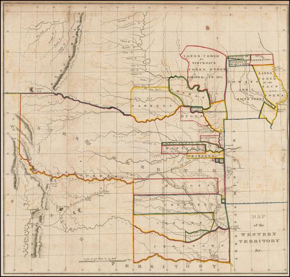 94-Plains, Kansas, Nebraska and Southwest Map By Washington Hood