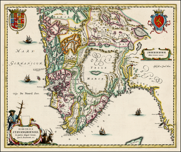 7-Scandinavia Map By Johannes Blaeu