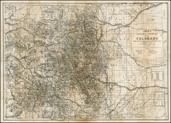 Southwest, Rocky Mountains and Colorado Map By Louis Nell