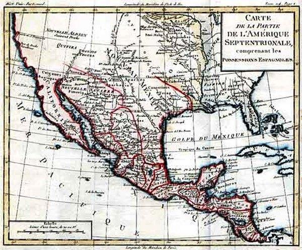 13-Southwest, Mexico and California Map By Louis Brion de la Tour