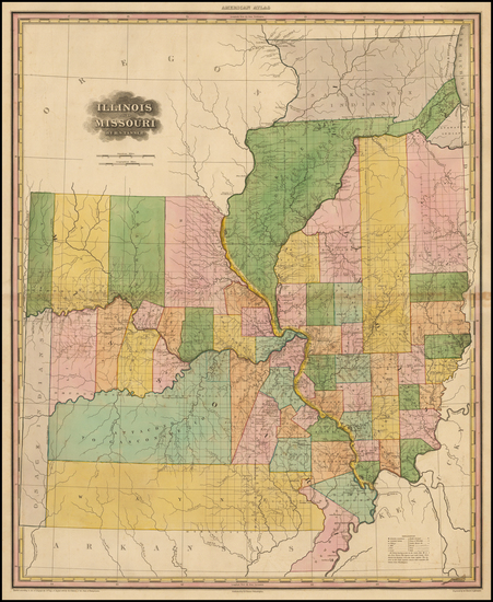 76-Midwest, Illinois, Plains and Missouri Map By Henry Schenk Tanner