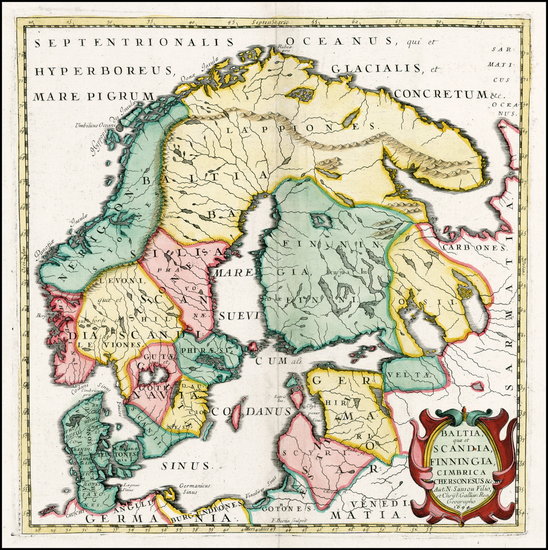 63-Poland, Russia, Baltic Countries and Scandinavia Map By F. Bertin