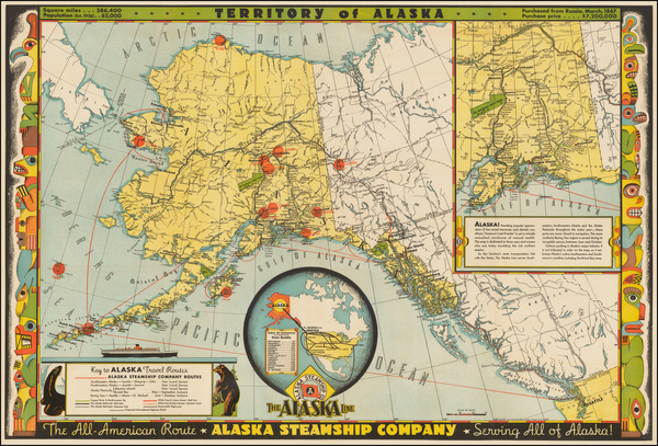 Alaska Map By Frank McCaffrey