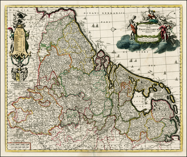 55-Netherlands Map By Nicolaes Visscher I