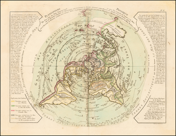 89-Northern Hemisphere, Polar Maps, Alaska and Canada Map By Philippe Buache / Jean André D