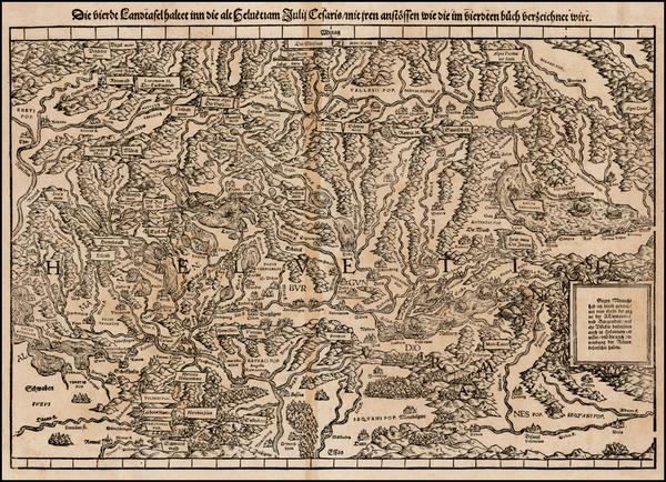 30-Switzerland Map By Johann Stumpf