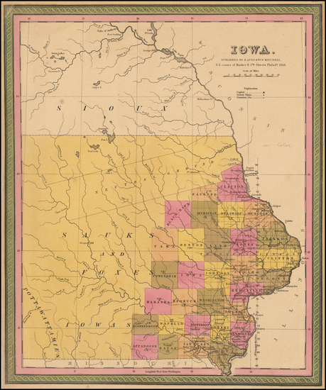 4-Midwest, Plains and Iowa Map By Samuel Augustus Mitchell