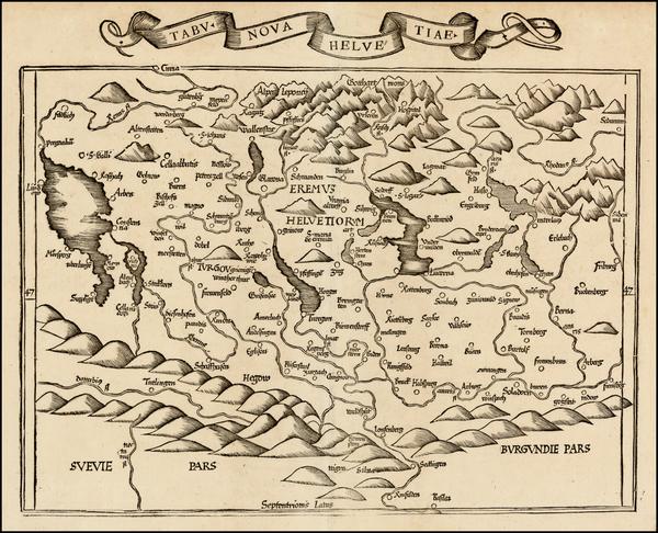 47-Switzerland Map By Lorenz Fries
