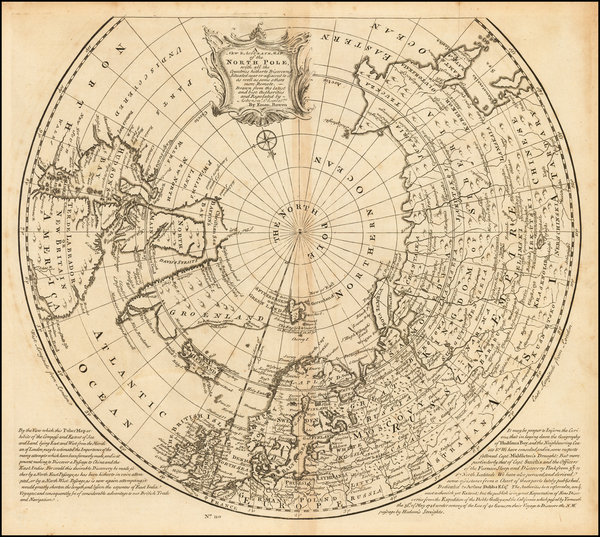 Northern Hemisphere and Polar Maps Map By Emanuel Bowen