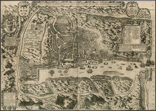 46-India and Other Islands Map By Jan Huygen Van Linschoten
