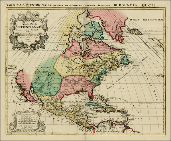 74-Florida, Texas, Midwest, North America and California Map By Reiner & Joshua Ottens / Alexi