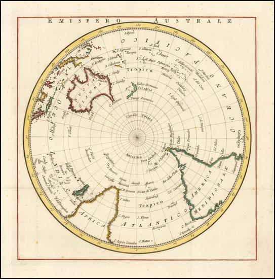Southern Hemisphere, Polar Maps, Australia & Oceania, Australia and Oceania Map By La Harpe