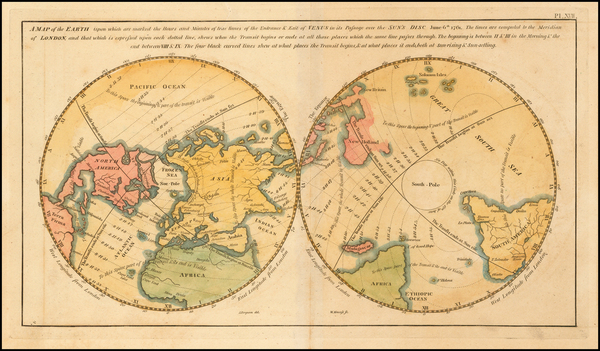 48-World, World, Southern Hemisphere, Polar Maps and Pacific Map By James Ferguson