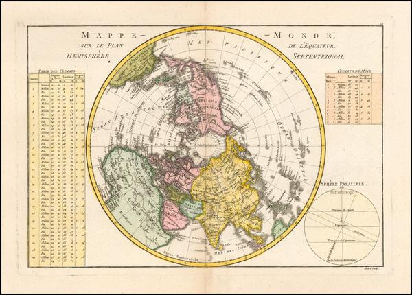 Northern Hemisphere and Polar Maps Map By Rigobert Bonne