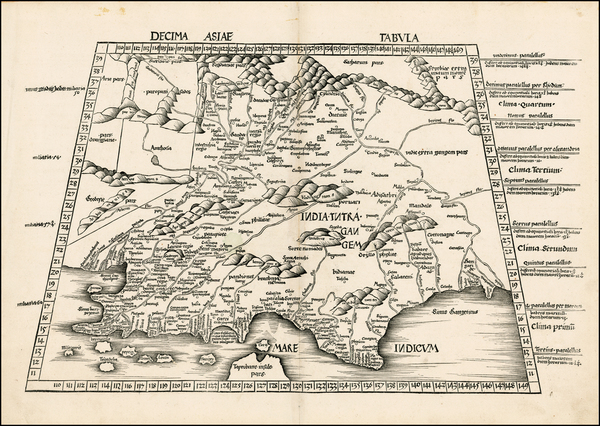 42-India and Central Asia & Caucasus Map By Martin Waldseemüller