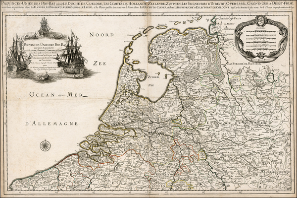 34-Netherlands Map By Alexis-Hubert Jaillot