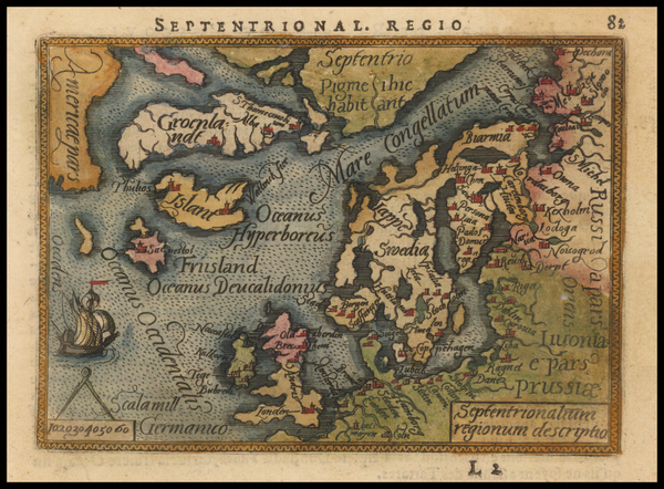90-Atlantic Ocean, Canada, British Isles, Baltic Countries, Scandinavia and Balearic Islands Map B