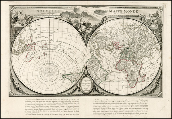 27-World, World, Northern Hemisphere and Southern Hemisphere Map By Giovanni Antonio Remondini