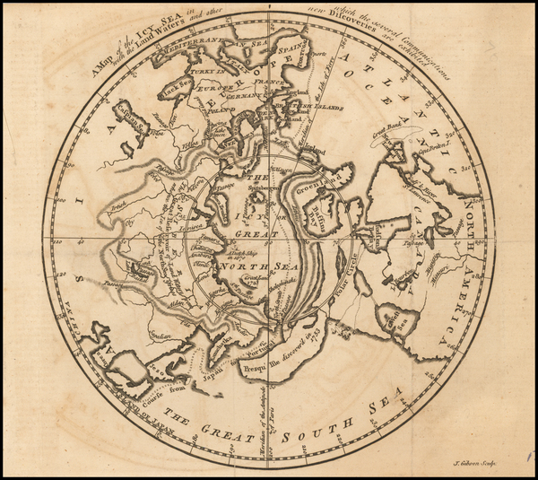 14-Polar Maps, Alaska, Canada and Central Asia & Caucasus Map By Gentleman's Magazine