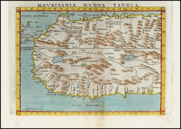 84-North Africa and West Africa Map By Girolamo Ruscelli
