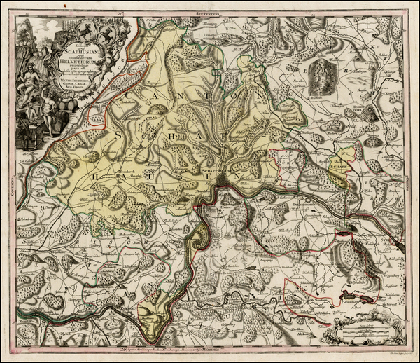 22-Switzerland Map By Matthaus Seutter