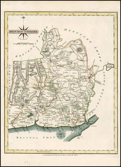 67-British Isles, British Counties and Wales Map By John Cary
