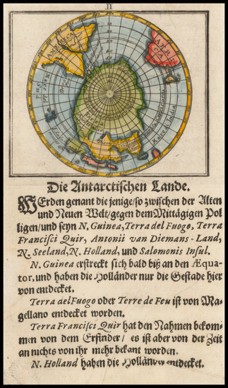 46-Southern Hemisphere and Polar Maps Map By Johann Ulrich Muller
