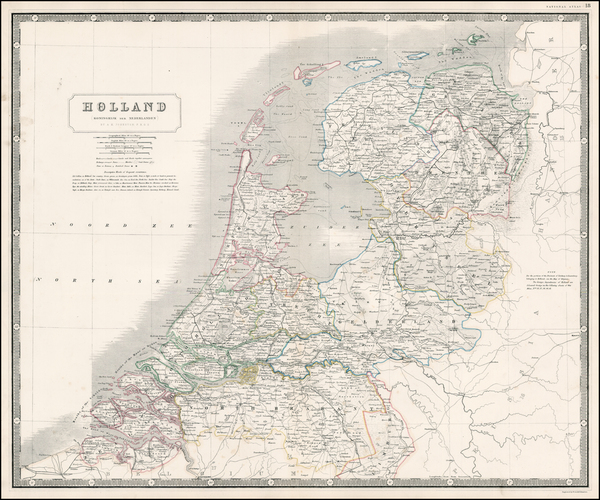 94-Netherlands Map By Alexander Keith Johnston