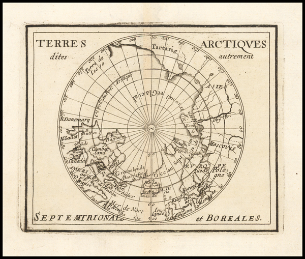 67-Polar Maps Map By Pierre Du Val