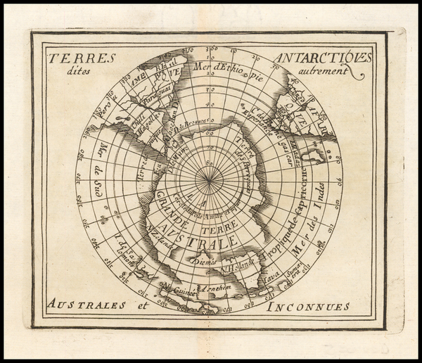 0-Southern Hemisphere and Polar Maps Map By Pierre Du Val