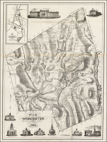 30-Massachusetts Map By Henry S. Stebbins