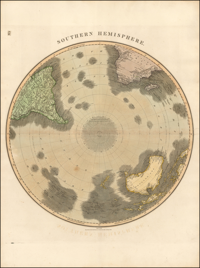 85-Southern Hemisphere, Polar Maps and Oceania Map By John Thomson