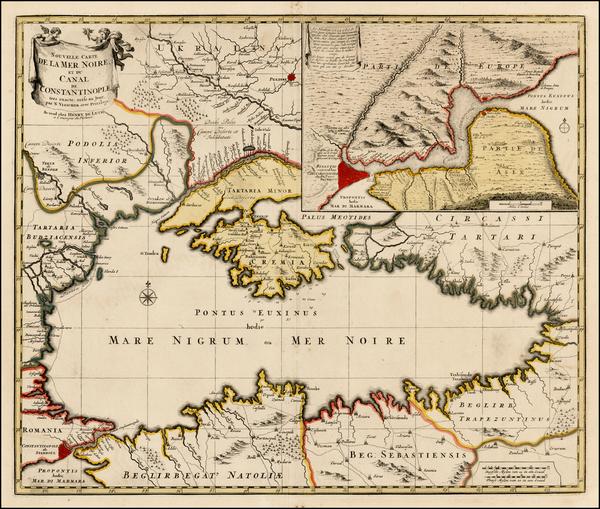 44-Ukraine, Turkey and Turkey & Asia Minor Map By Hendrick De Leth / Nicolaes Visscher I