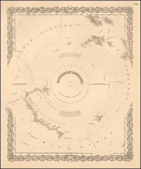 46-Polar Maps Map By G.W.  & C.B. Colton