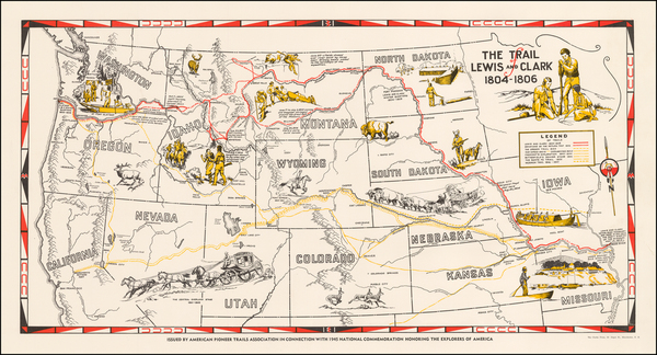 19-Plains, Southwest, Rocky Mountains and California Map By