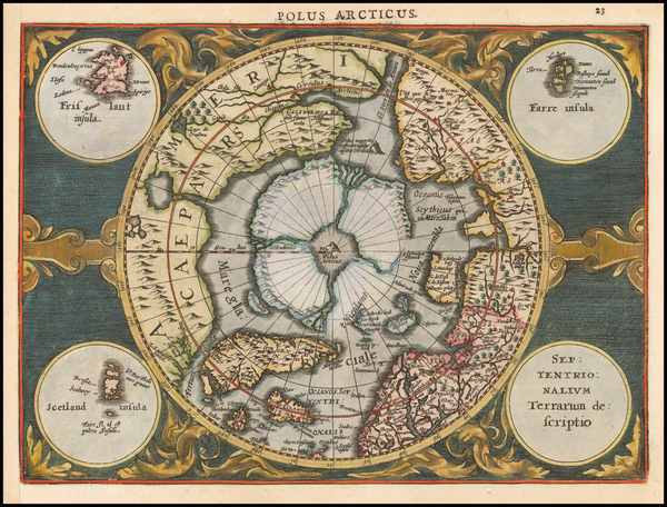 17-Northern Hemisphere and Polar Maps Map By Johannes Cloppenburg