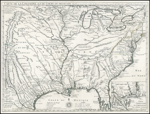 16-South, Southeast, Texas, Midwest, Plains, Southwest and Rocky Mountains Map By Guillaume De L'I