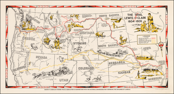 74-Plains, Southwest, Rocky Mountains and California Map By