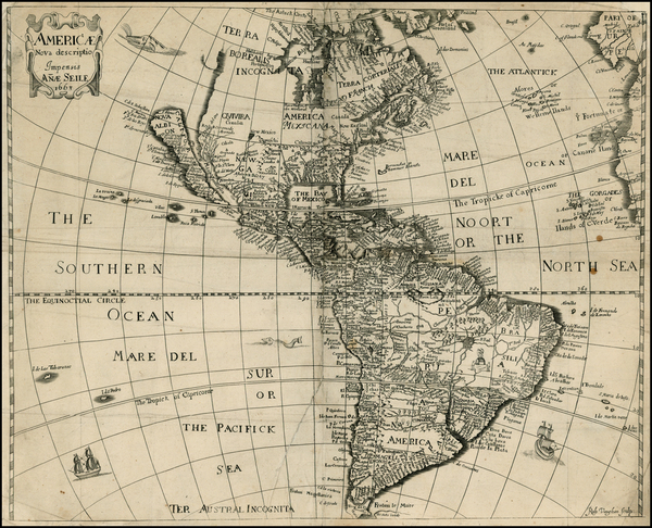 96-South America and America Map By Anna Seile