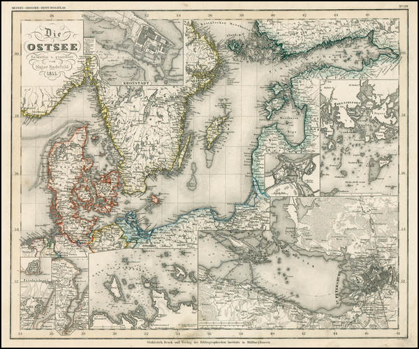 21-Russia, Baltic Countries and Scandinavia Map By Joseph Meyer