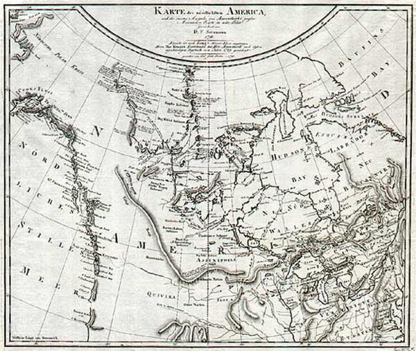28-Midwest, Alaska and Canada Map By Daniel Friedrich Sotzmann
