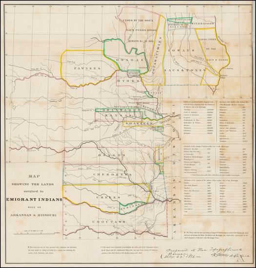 72-South, Plains and Oklahoma & Indian Territory Map By Washington Hood