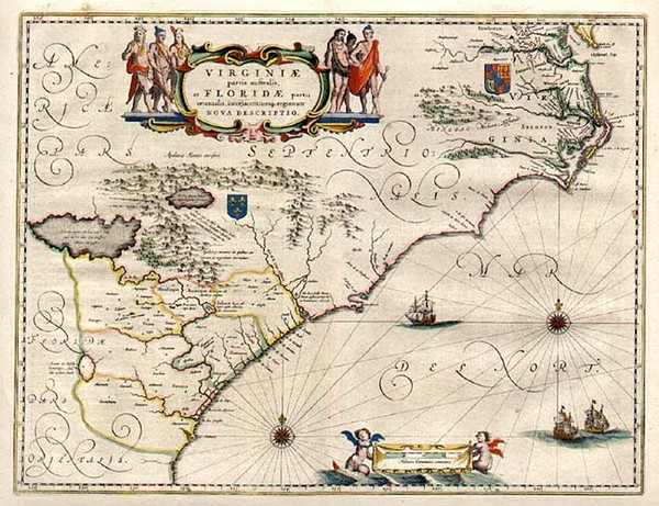 79-Southeast Map By Willem Janszoon Blaeu