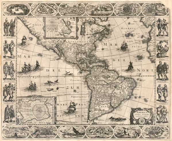 43-South America and America Map By Jan Jansson