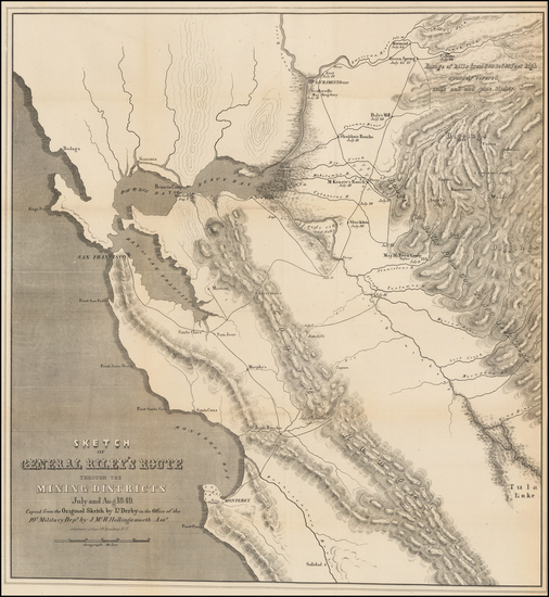37-California Map By George Derby  &  J.McH. Hollingsworth