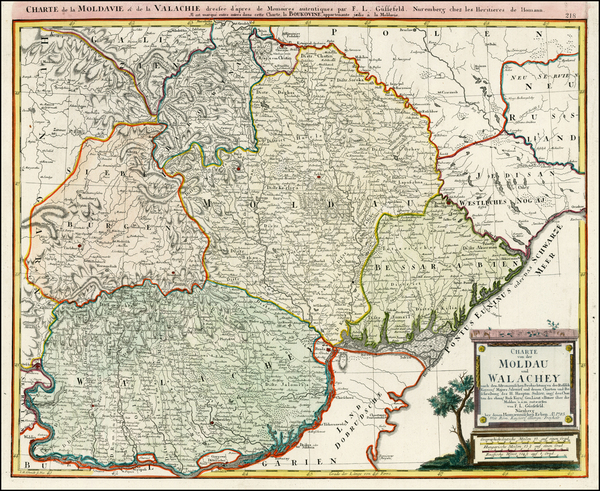 93-Ukraine, Romania and Balkans Map By Franz Ludwig Gussefeld