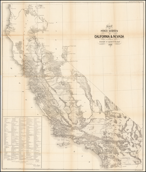 90-California Map By General Land Office